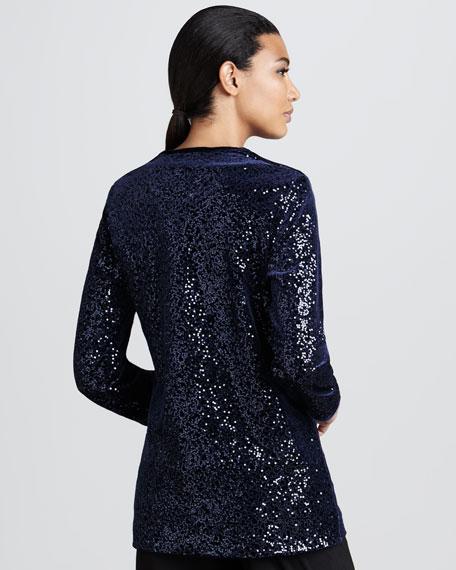 Sequined Velvet Jacket