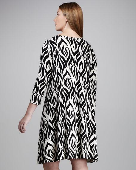 Printed Shift Dress, Women's