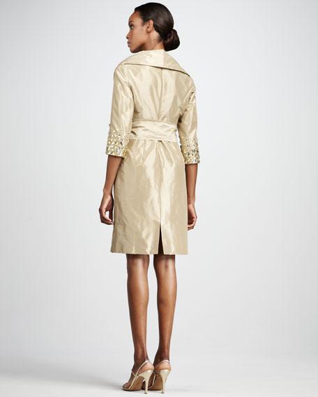 Bow-Waist Beaded Dress