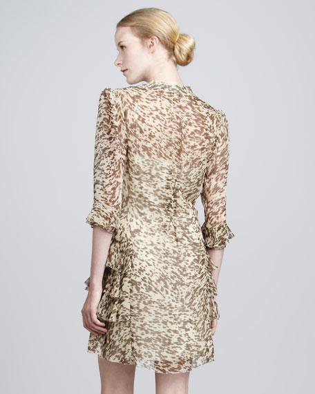 Faithful Printed Ruffled Dress