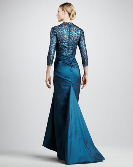 Sequined Taffeta Gown