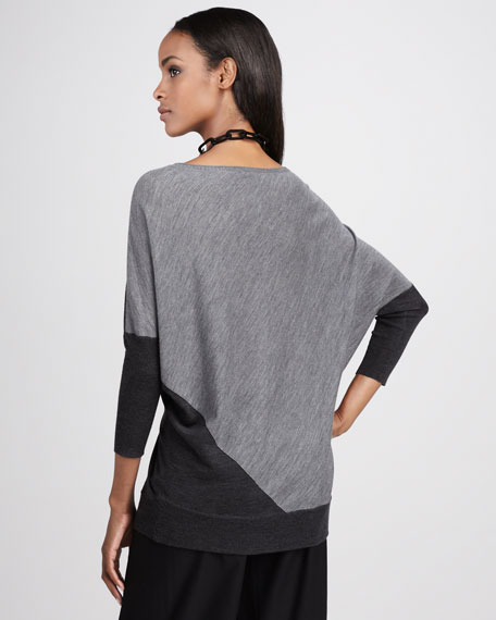 Wool Boat-Neck Top, Petite