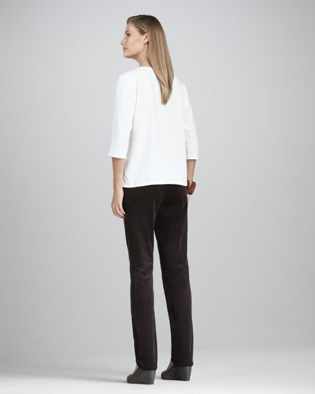 Stretch Corduroy Pants, Petite
