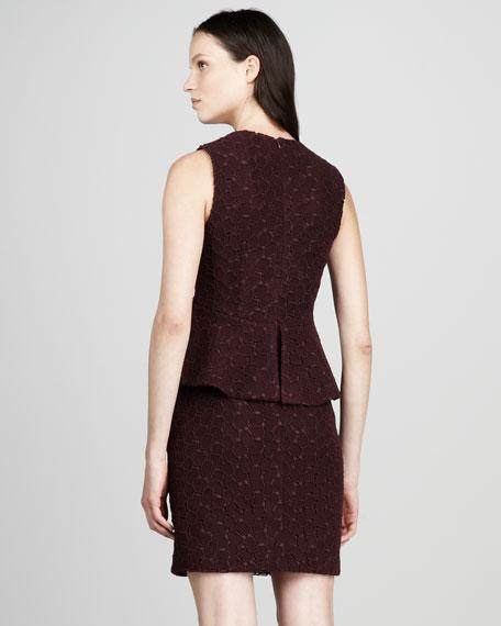 Delian Pebble-Lace Dress