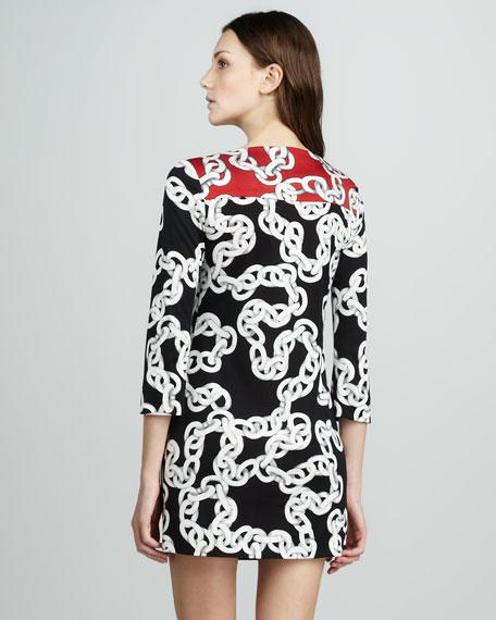 Ruri Chain-Print Dress