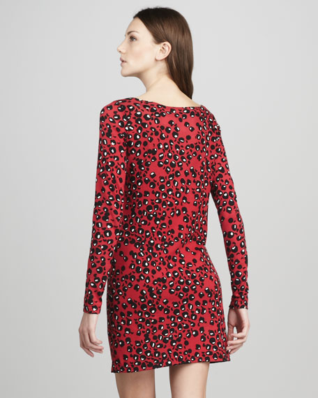 Kivel Cheetah-Print Dress