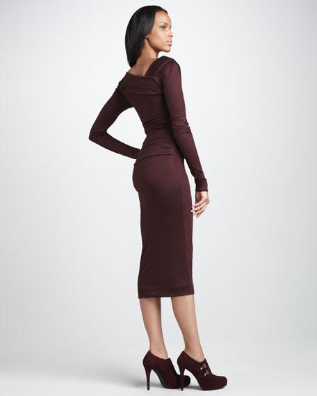 Bentley Faux-Wrap Dress
