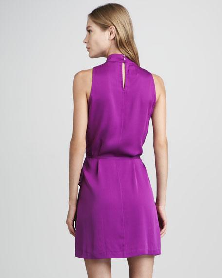 Morana Bow-Neck Draped Dress