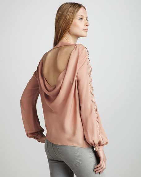 Lace-Up-Sleeve Top