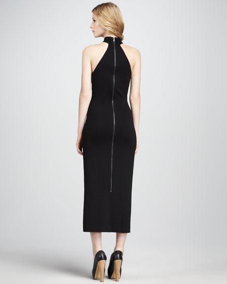 Cross-Panel Ponte Dress