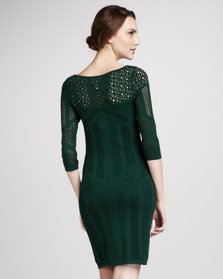 Pointelle Knit Dress