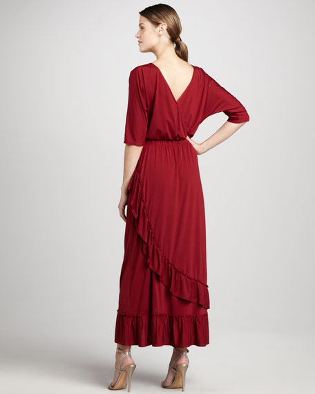 Ruffled Maxi Dress, Women's