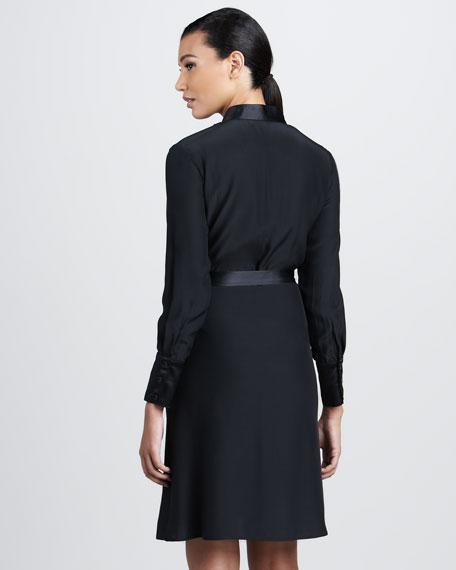 Ruffled Silk Dress, Women's