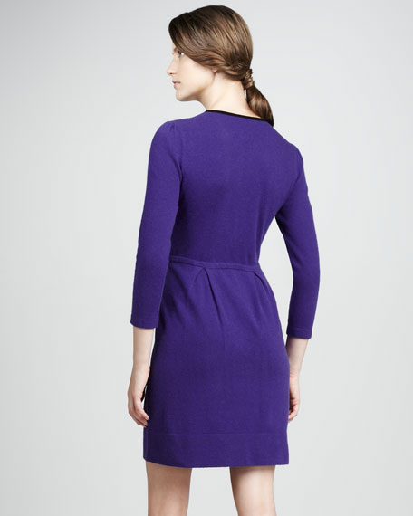 Equestrian Studded Knit Dress