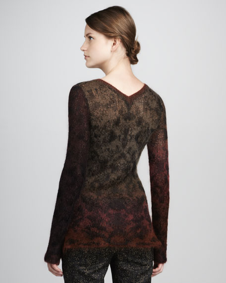 Knupa Ombre Knit Sweater, Rust