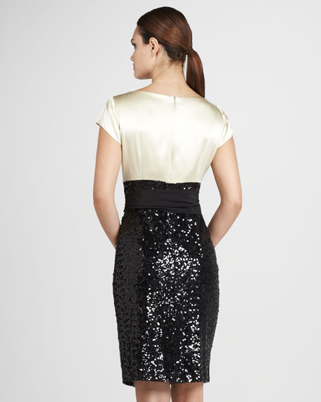 Sequin-Skirt Dress