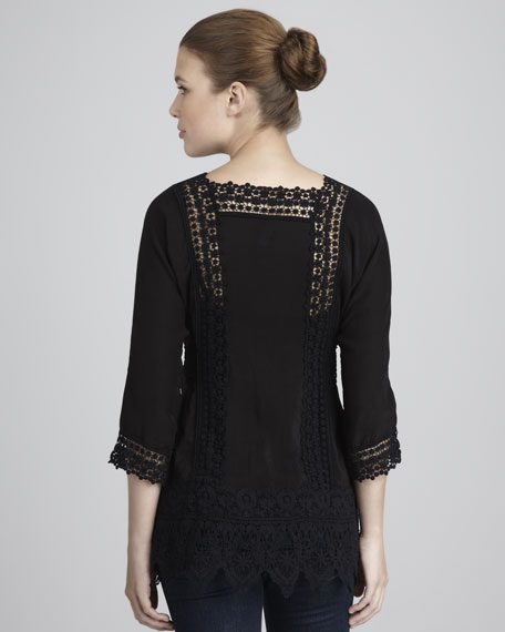 Lace-Trim Tunic, Women's