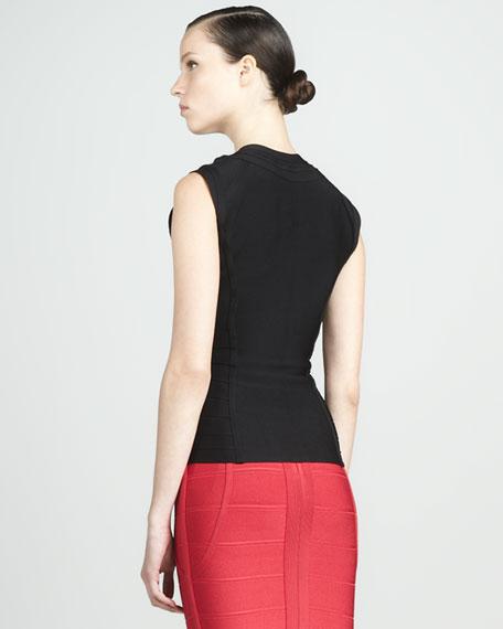 Front-Zip Bandage Top