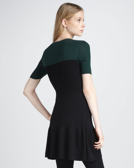 Knit Fit-and-Flare Dress