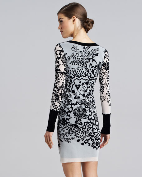 Printed Long-Sleeve Tunic/Top/Dress