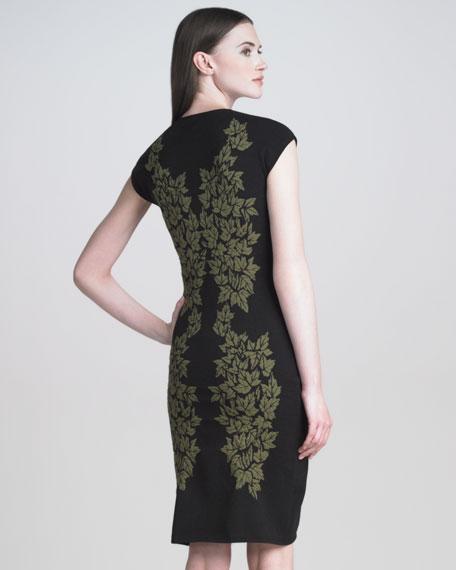 Leaf Jacquard Dress