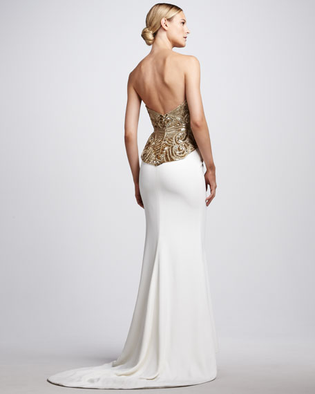 Beaded Corset-Top Gown