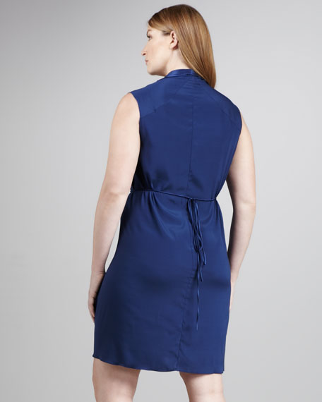 Solid Garden-Party Dress, Women's