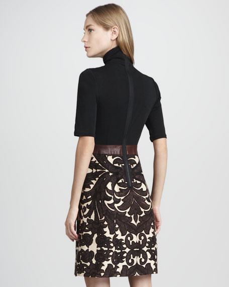 Turtleneck Combo Dress