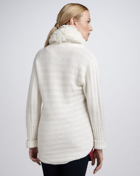 Faux-Shearling Cardigan