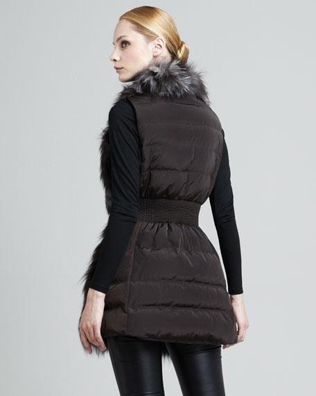Candice Fur-Front Puffer Vest