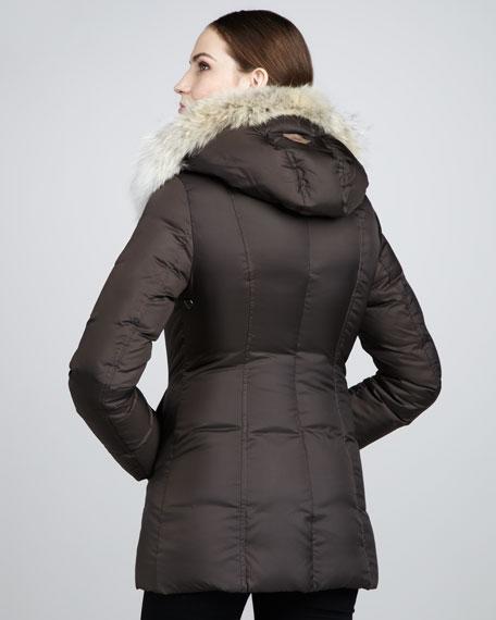 Adali Fur-Trimmed Puffer Coat