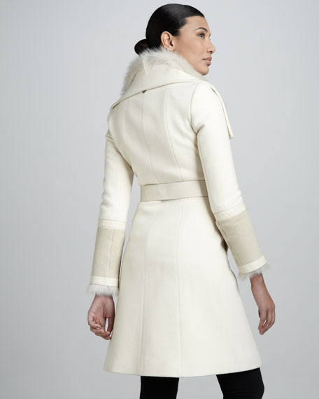 Isabel Fur-Collar Coat
