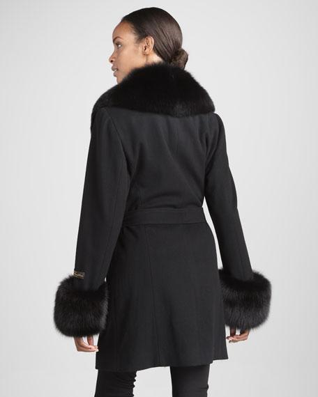 Fur-Trim Collar-Cuff Coat