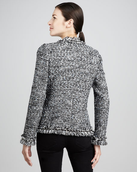 Tweed Pearl-Chain-Trim Jacket