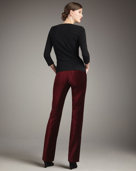 Goodwin Boot-Cut Velvet Pants