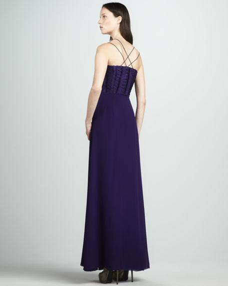 Delfina Double-Bodice Gown