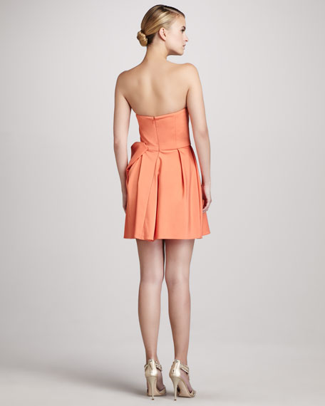 Strapless Bow-Waist Dress