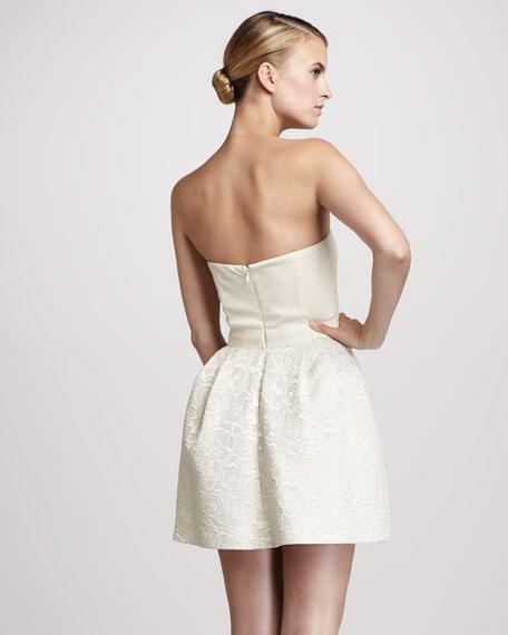 Jacquard Sweetheart Dress