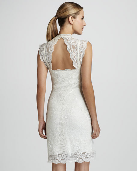 Cutout-Back Lace Dress