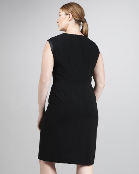 Cosette Leather-Detail Dress, Women's