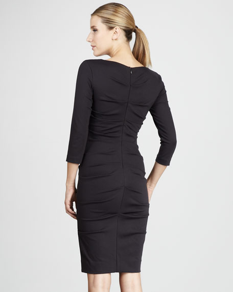 Ruched Ponte Dress
