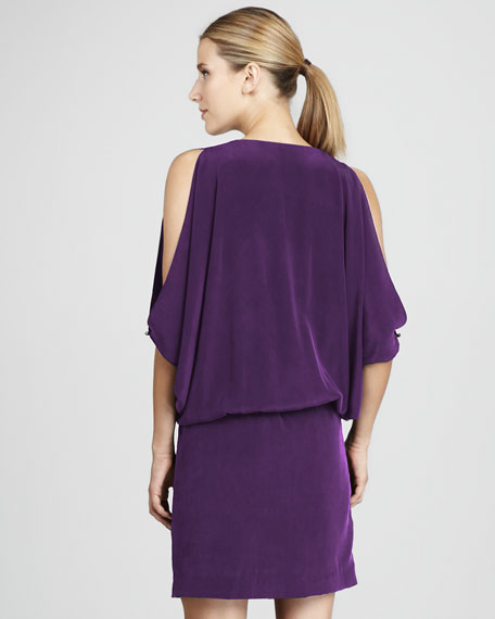 Drop-Waist Silk Dress