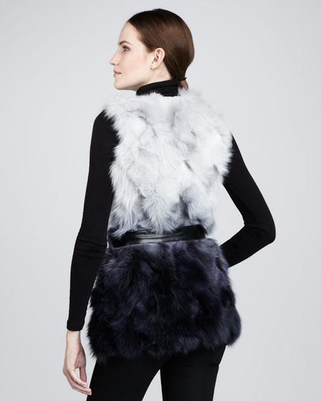 Ombre Fur Vest