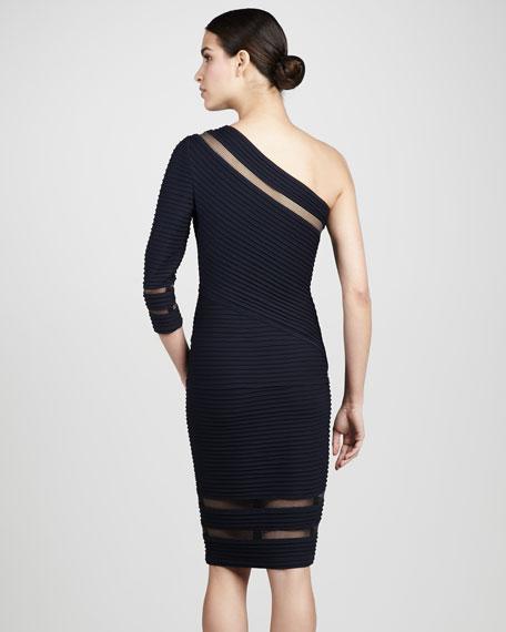 Illusion-Trim Cocktail Dress