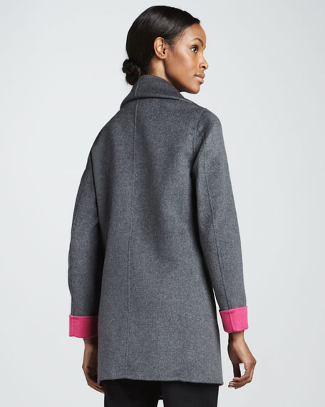Relaxed Shawl Collar Coat