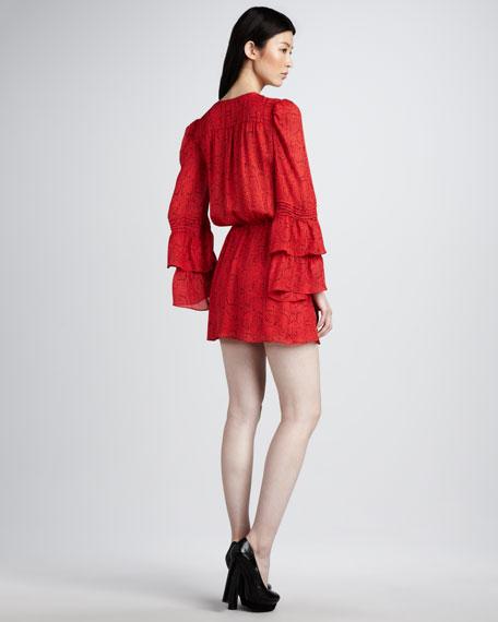 Bell-Sleeve Dress