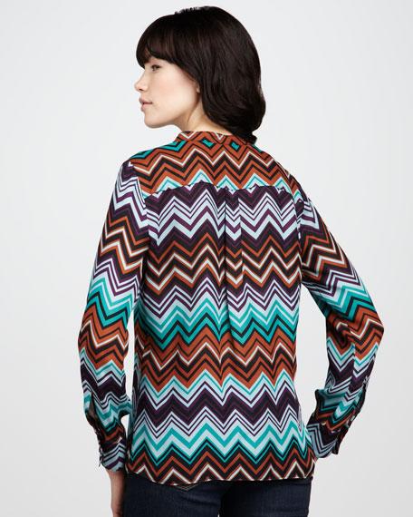 Zigzag-Print Blouse