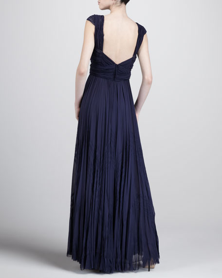Hand-Pleated Gown