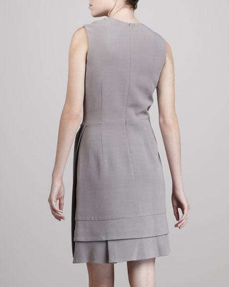 Wrap-Front Dress, Cloud Gray