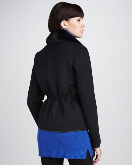 Fur-Collar Puffer Jacket